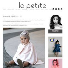 Excited to be featured on La Petite Mag's blog! Take a look & pick up your discount code! Can't wait for the Dec Print Issue!