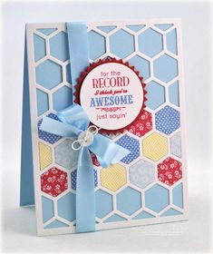 Happy Hexagons Mini Stamp Set: Papertrey Ink Clear Stamps Dies Paper Ink Kits Ribbon