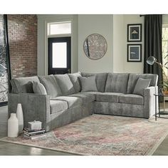 Shop Gerard Grey Sectional Sofa Bed with Queen Gel Memory Foam Mattress - Overstock - 31286320 Grey Sofa Bed, Sofa Bed Sleeper, Grey Sectional Sofa, Chaise Sofa, Couches, Sofas, Large Furniture, Sofa Furniture, Living Room Furniture