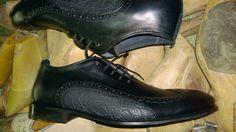 Купить полуботинки мужские - черный, хром, бегимот, дресс-код, эксклюзив, кожа натуральная