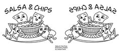 Salsa and Chips Pattern for embroidery, via Flickr.