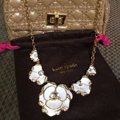 ⚡️FLASH SALE⚡️ Kate Spade Necklace NWT Beachouse Bouquet GORGEOUS necklace.  White & gold & sparkly makes this a perfect gift . kate spade Jewelry Necklaces