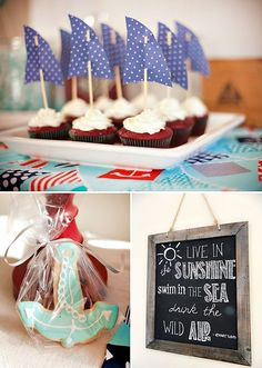Cute & Crafted Nautical Birthday Party