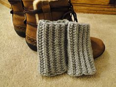 Knit Boot Cuff, Leg Warmers for Teens or Adults in Grey. $15,00, via Etsy.