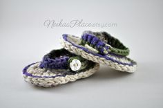 Newborn Baby Sandals Crocheted Baby Shoes Baby by NeikasPlace