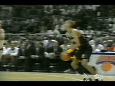 Reggie Miller scores 25 points in the 4th quarter and taunts Spike Lee after every basket