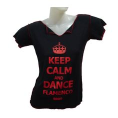 Camiseta baby look  estampa Keep Calm and Dance Flamenco