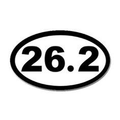 This will be on my car on October 8, 2012... one day after the Chicago Marathon.