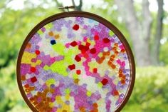 Melted Bead Stained Glass Suncatchers 31