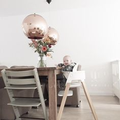 First class seating for baby, kids & adults too – Stokke Tripp Trapp Chair + Stokke Steps High Chair