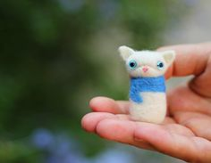 Needle Felted Chihuaua Brooch Wool Dog by ThreeLittleCatsShop