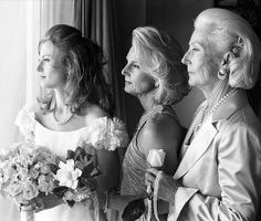 (bride, mother and grandmother) I can't do it with no living grandparents, but it would look just as cool with the groom and his father and grandfather!