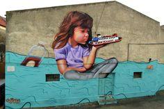 Smile1 for Mostra de Graffiti de Almada in Almada, Portugal, 2015