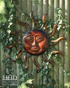 Sun Pics, Pictures Of The Sun, Metal Sun Wall Art, Garden Art, Garden Ideas, Moon Symbols, Good Day Sunshine, Stay Wild Moon Child, Mexico Art