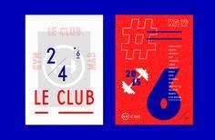Julián Villagra's typographic identity for an Argentinian gym