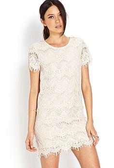 Eyelash Lace Sheath Dress | FOREVER21 - 2000124622 @Alisandra Palacios possibility?