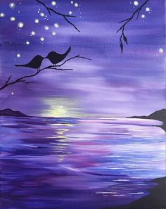 Check out Purple Ocean Sunset Kinda Love at The TK Bar - Paint Nite Event Hey! Check out Purple Ocean Sunset Kinda Love at The TK Bar - Paint Nite Event,Hey! Check out Purple Ocean Sunset Kinda Love at The TK Bar - Paint Nite Event, Easy Canvas Painting, Simple Acrylic Paintings, Watercolor Paintings, Diy Painting, Canvas Art, Image Painting, Purple Painting, Acrylic Painting Inspiration, Oil Pastel Art