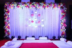 Marriage Hall Decoration, Engagement Stage Decoration, Naming Ceremony Decoration, Reception Stage Decor, Wedding Stage Design, Wedding Reception Backdrop, Event Decor, Destination Wedding Decor, Desi Wedding Decor