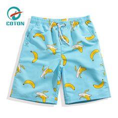 7faa826b3d7f1 print banana swim trunks best mens board shorts swimming trunks for sale Mens  Swim Shorts,