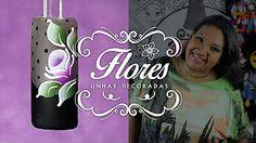 Unhas Decoradas Passo a Passo com Flores para Natal (nail art tutorial) | Cola…