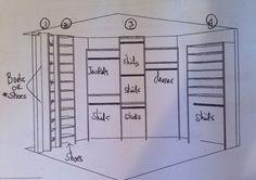 My new closet!  LOVE IT! Classy Closets, Floor Plans, Floor Plan Drawing, House Floor Plans