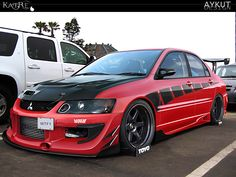 MITSUBISHI EVO 9...i like the older editions HATE the newer ones to rounded
