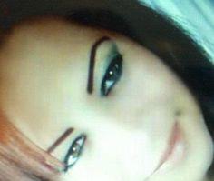eyebrows and eyeliner.
