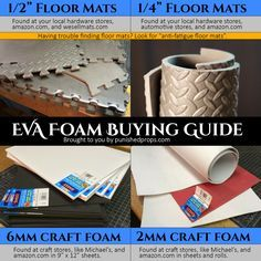 Wondering where to buy EVA foam for your cosplay? Bill provides links on where he gets foam for his props and costumes.