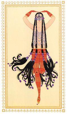 Erté (Romain de Tirtoff, 1892 - 1990), costume design, Sheerezade