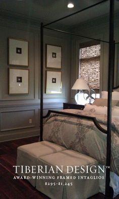 Framed Intaglios Project No. 23 Designers Choice Bedroom Vignette
