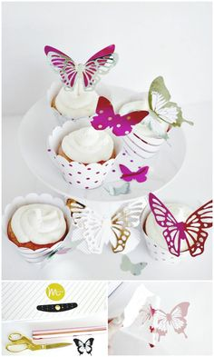 How To Make Butterfly Cupcakes With Heidi Swapp Minc - 101 Easy DIY Spring Craft Ideas and Projects - DIY & Crafts