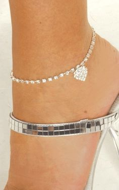 Beautiful Crystal Ankle Foot Chain for Woman Decoration Summer-Silvery - Sexy Jewelry - Fashion
