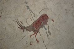 Antelope wall fresco, from the area of Stazione Termini, end of 2nd - beginning of 3rd century AD, National Museum of Rome, Baths of Diocletian | Flickr - Photo Sharing!