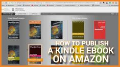 How To Publish A Kindle eBook Today On Amazon Amazon Publishing, Self Publishing, Digital Rights Management, Sell Your Books, Lending Library, Amazon Kindle, Project Life, Amazon Today, Youtube