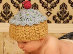 Gorros de crochet de cupcake en Elementos y objetos relacionados con los cupcakes y magdalenas
