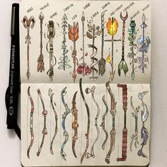 Official Post from Picolo: At last!<br>As I'm going to upload the zodiac archers I thought it would be cool to put bows and arrows side to side!<br>Which one is your favorite?<br> wand The Zodiac Bows and Arrows Zodiac Art, Arrow Tattoos, Sketch Book, Art Drawings, Drawings, Creative, Gabriel Picolo, Zodiac Tattoos, Art