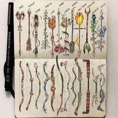 The Zodiac bows and arrows ✨♈️♉️♊️♋️♌️♍️♎️♏️♐️♑️♒️♓️ #celestialatlas