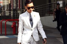 Nobody pulls off a tailored suit more effortlessly than Esther Quek, the fashion director at classic menswear magazine The Rake. It Suits Her.