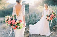 Spring Florals with Sarah Seven Bleeker gown | Natalie Bray Photography | Plenty of Petals florals - www.sarahseven.com/world-of