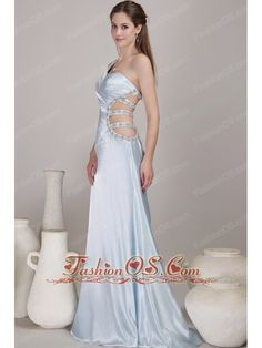 Lilac Column / Sheath One Shoulder Floor-length Taffeta Beading Prom Dress- $134.29  http://www.fashionos.com   prom dress on sale | cheap prom dress under 150 | free shipping all over the world | inexpensive prom dress | custom made prom dresses | online prom dress store | a dress of elegance for your prom | prom dress at discount | cheap prom dress | prom dress sale |  Your slim waist and sexy back will be seen between the straps. The taffeta material is soft and comfortable to wear.