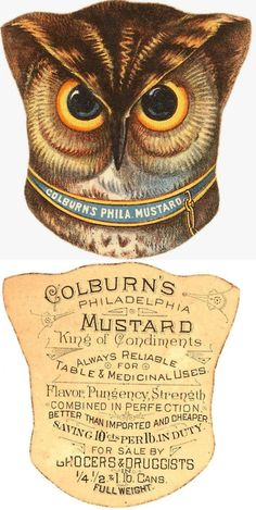 Very nice vintage label - front and back