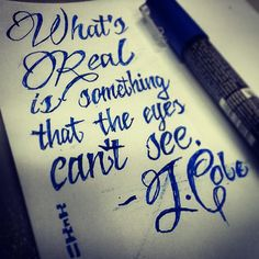 'What's real is something that the eyes can't see' J. Cole Quote from 'Crooked Smile' - Rap Quote, Art by Mark Bernard - sknkdesign.com