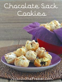 Chocolate Sack Cookies are really easy to make with rich chocolate on the inside.