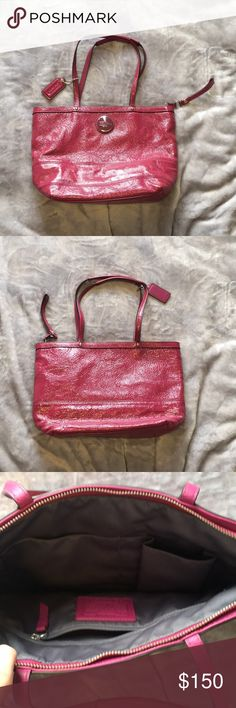 37fec6bb8bd93c Coach Fuchsia Pink Patent Leather Handbag Purse Never used Coach Fuchsia  Pink Patent Leather Handbag Purse Coach Bags