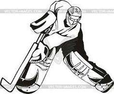 Goalie silhouette