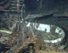 Titanic captain Edward Smith's bathtub intact on the bottom of the ocean
