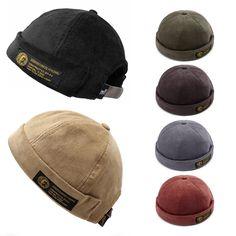 eec0e5437cd Men Women Couples Adjustable Solid Corduroy Velvet Brimless Hats Retro  Vogue Crimping Bucket Cap is hot sale on Newchic Mobile.