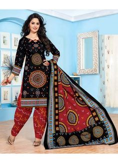 Salwar Suits Dress Material   Fabric type: Pure Cotton   Top: Cotton (2.5 mtr)   Bottom: Cotton (2 mtr)   Work: Bandhani Printed Work   Size: Dress Material   Dupatta: Cotton (2.25 mtr)   Disclamer : Product