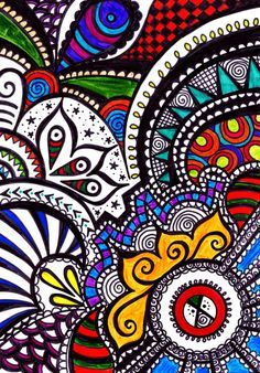easy zentangle patterns color - Buscar con Google