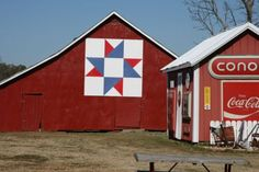 Ohio Star Red White & Blue Barn Quilt.